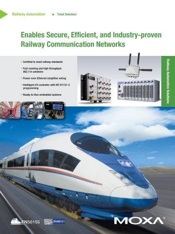 Enables Secure, Efficient, and Industry-proven Railway ...