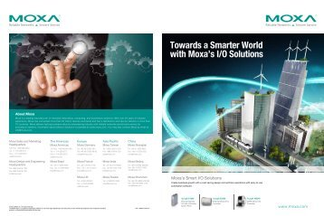 Towards a Smarter World with Moxa's I/O Solutions - Omni Ray AG