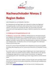 Anmeldung Nachwuchskader Niveau 2 Region Baden - Regionaler ...