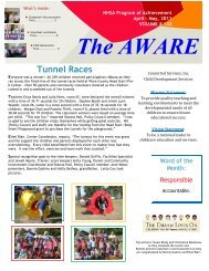 The Aware April/May 2011 - Concerted Services Inc