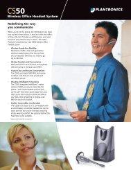 Plantronics CS50.pdf - Northern Connections Ltd.