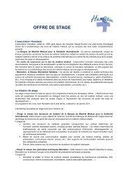 OFFRE DE STAGE - Alpes Solidaires