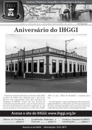 Informativo IHGGI - Edição Nº 4 - IHGGI - Instituto Histórico ...