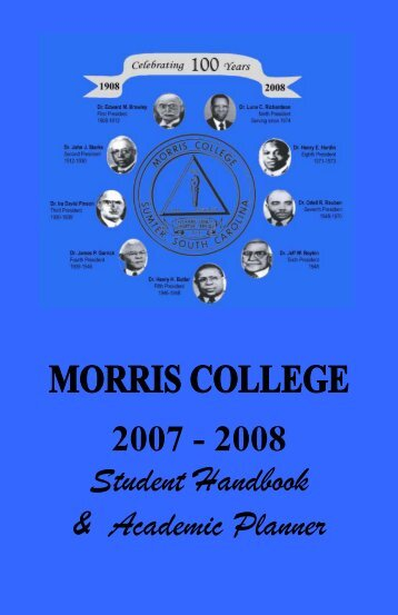 STUDENT HANDBOOK - Morris College