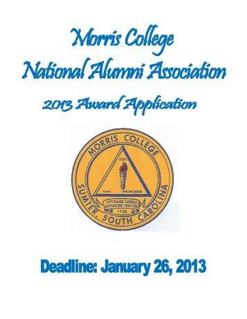 MCNAA Outstanding Young Alumnus Award - Morris College