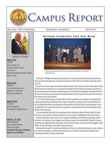 March 30, 2012 - Morris College