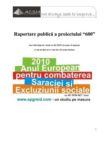 vezi raportul final al proiectului (.pdf) - Ziua de Cluj