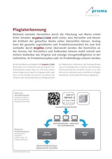 Plagiaterkennung - Prisma Gesellschaft für Projektmanagement und