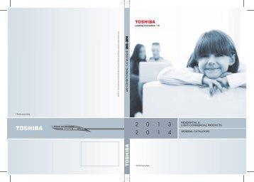 New TOSHIBA Catalogue 2013