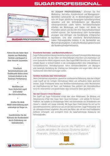 Sugar PROFESSIONAL - prisma GmbH