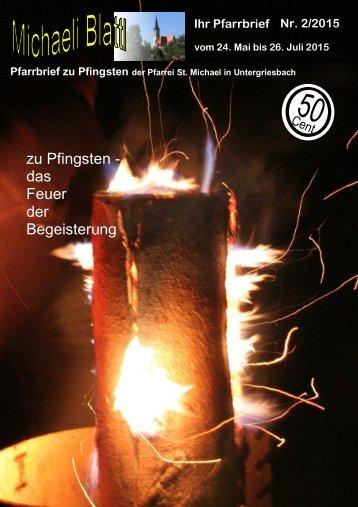 zu Pfingsten - das Feuer der Begeisterung