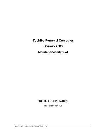 toshiba personal computer maintenance manual nexicore services rh yumpu com toshiba tecra m9 service manual toshiba tecra m9 manual