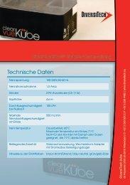 Technische Daten - Technocold