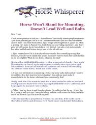 Horse Won't Stand for Mounting & Jigs on the Trail