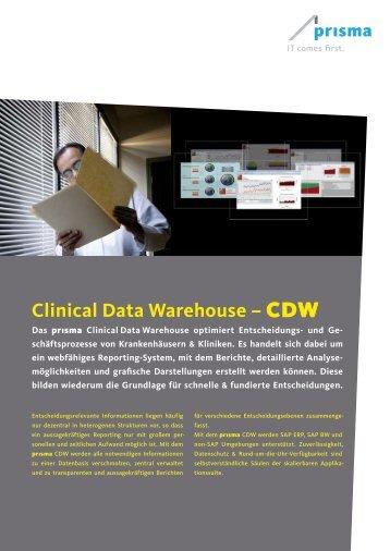 Clinical Data Warehouse – cdw - Prisma Gesellschaft für ...
