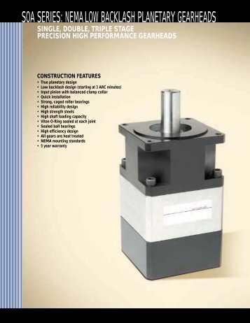 Planetary Gearheads for Servo Motors and Stepper Motors