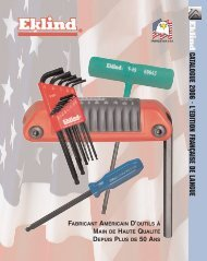 EKLIND TOOL 61616 1//4-Inch Power T Hex Key