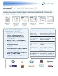 JasperSoft BI Suite Datasheet