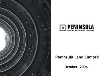 Citibank Presentation - Peninsula Land Ltd