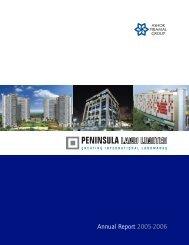 Annual Report 2005-2006 - Peninsula Land Ltd
