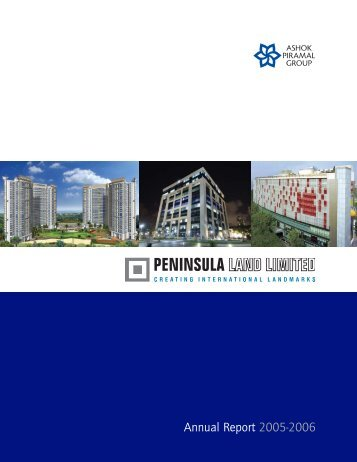 Annual Report 2005-2006 - Peninsula Land Ltd