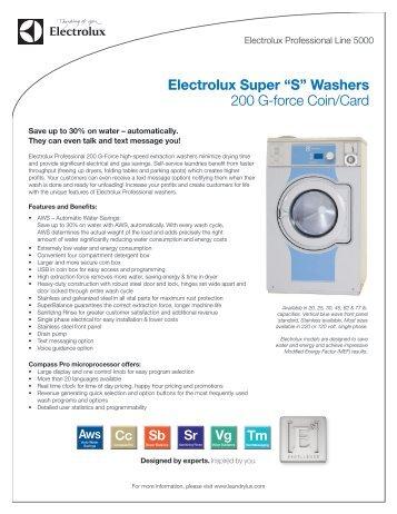 electrolux super u201csu201d washers 200 gforce coincard laundrylux