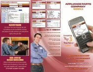 MOBILE APPLIANCE PARTS COMPANY Touches or