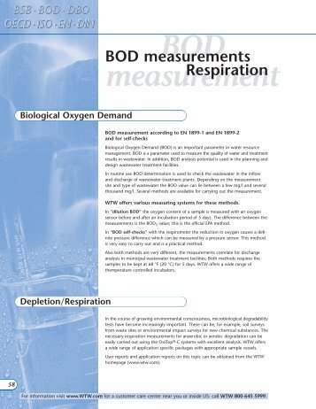 BOD measurement - AMCO Instruments, SRL
