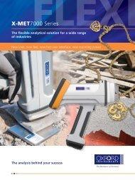 X-MET7000 Flexible brochure - Oxford Instruments