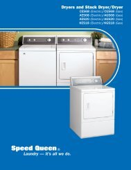 Dryers and Stack Dryer/Dryer Laundry — it's all we do. - Speed Queen