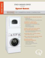 STACK WASHER/DRYER - Speed Queen