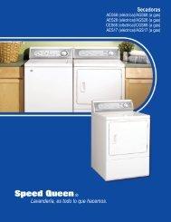 Secadoras Lavandería, es todo lo que hacemos. - Speed Queen