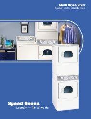 Speed Queen Home Laundry Stack Dryer/Dryer