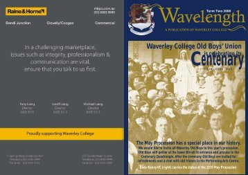 April Issue (692KB) - Waverley College