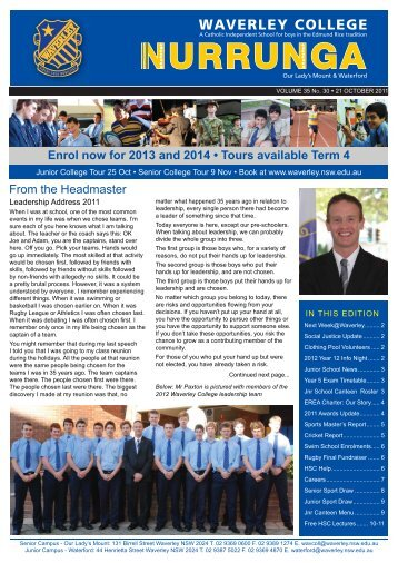 Nurrunga Online Vol 35 No 30 - Waverley College