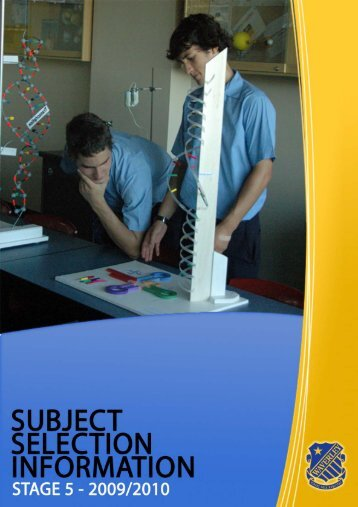 Subject Selection Booklet - Stage 5 - 2009/2010 - Waverley College