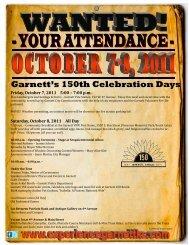 Garnett's 150th Celebration Days