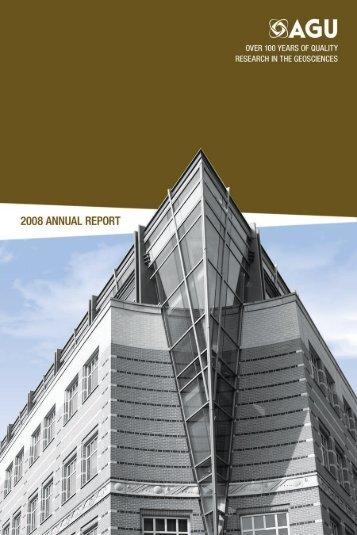 2008 Annual Report - AGU