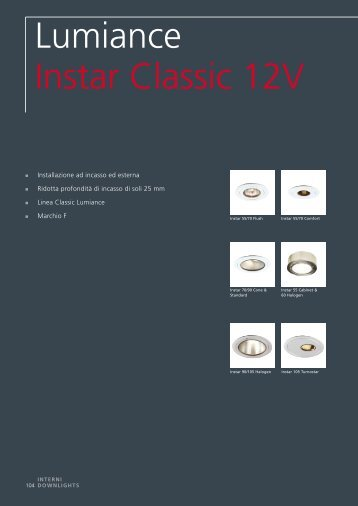 Lumiance Instar Classic 12V - Elettricoplus