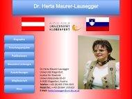 Dr. Herta Maurer-Lausegger - Universität Klagenfurt