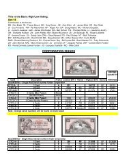Specialized List - Canadian Tire Coupon Collectors Club