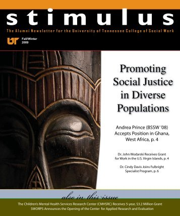 also in this issue - SWORPS - The University of Tennessee