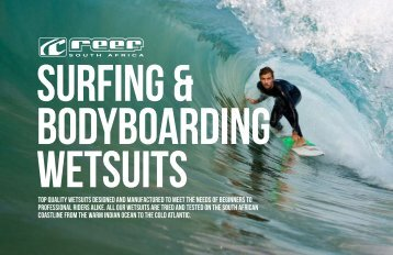 Reef Catalogue SURFING & BODYBOARDING WETSUITS