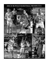 2004-05 buffalo basketball prospectus - Buffalo Athletics - University ...