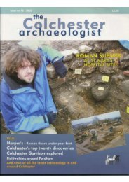 Colchester Archaeological Trust - University of Essex