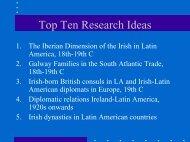 Shamrocks and Guayaba The Current Status of Irish Latin American ...