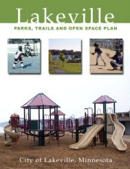 2006 Parks, Trails and Open Space Plan - City of Lakeville