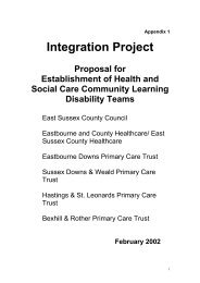 Integration Project - East Sussex County Council