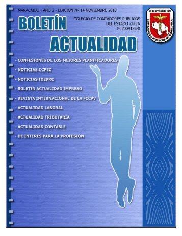 Boletín Actualidad - Bienvenidos al Colegio de Contadores Públicos ...
