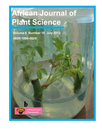 African Journal of Plant Science - Academic Journals